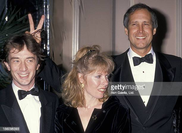 Actor Martin Short wife Nancy Dolman and Chevy Chase attending 17th Annual American Film Institute Lifetime Achievement Awards Honoring Gregory Peck...