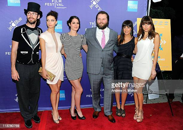 Actor Martin Starr, actress Angela Sarafyan, actress Michelle Borth, actor Tyler Labine, actress Lindsay Sloane and actress Lake Bell attend the...