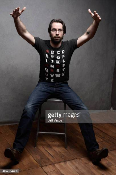 Actor Martin Starr poses for a portrait during the 2014 Sundance Film Festival at the WireImage Portrait Studio at the Village At The Lift Presented...