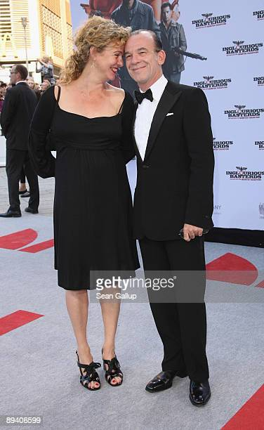 Actor Martin Wuttke and his wife actress Margarita Broich attend the German premiere of Inglourious Basterds on July 28 2009 in Berlin Germany