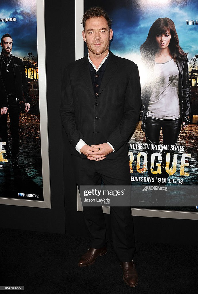 Actor Marton Csokas attends the premiere of 'Rogue' at ArcLight Hollywood on March 26, 2013 in Hollywood, California.