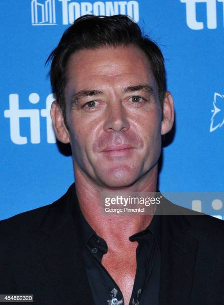 "Actor Marton Csokas poses at ""The Equalizer"" Press Conference during the 2014 Toronto International Film Festival at TIFF Bell Lightbox on September..."