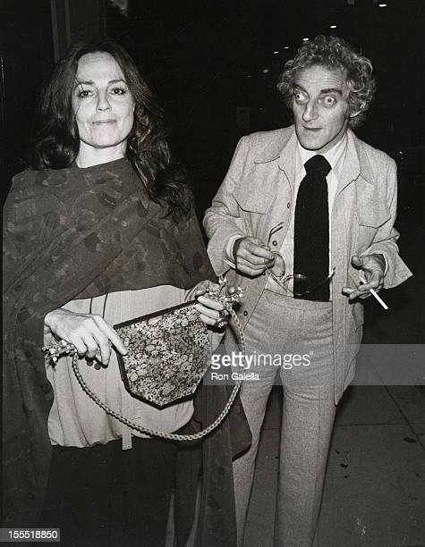 Actor Marty Feldman and wife Lauretta Sullivan attend the birthday pary for AnnMargaret on May 3 1977 at Bistro Restaurant in West Hollywood...