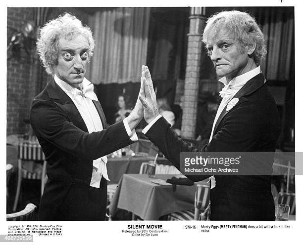 Actor Marty Feldman on set of the movie Silent Movie circa 1976
