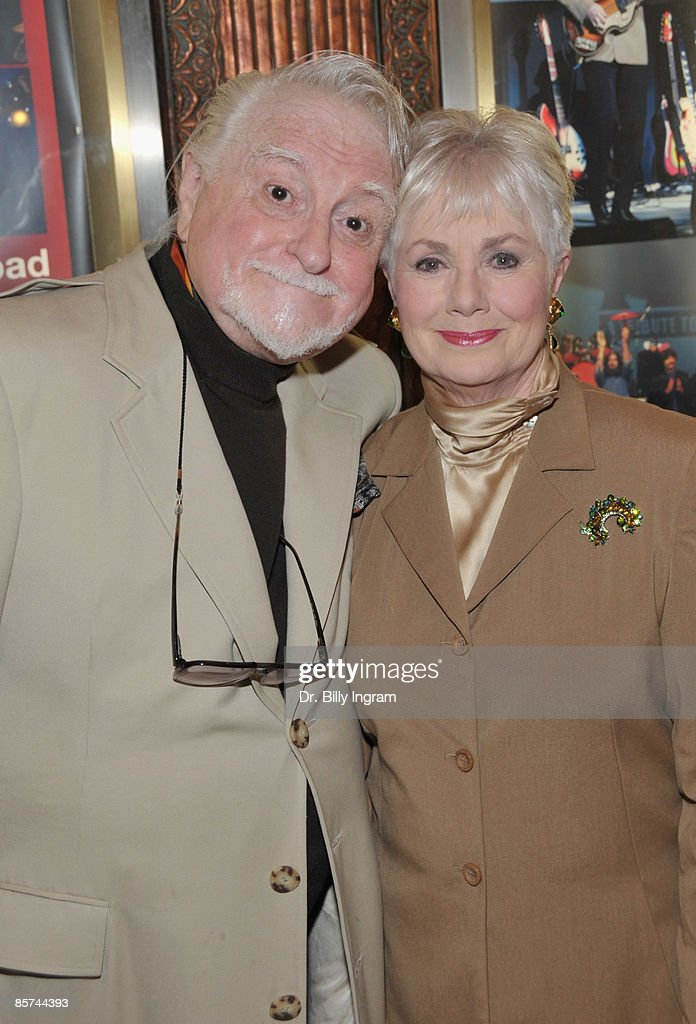 Actor Marty Ingels (L) and actress Shirley Jones, who is celebrating her 75th birthday today, arrive to the opening night of 'Rain: A Tribute To The Beatles' at The Pantages Theatre on March 31, 2009 in Los Angeles, California.