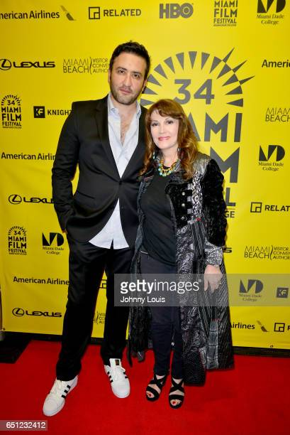 Actor Marty Sader and Mary Apick attend the Miami Dade College's Miami Film Festival for 'Monday Nights At Seven' at O Cinema Miami Beach on March 9...