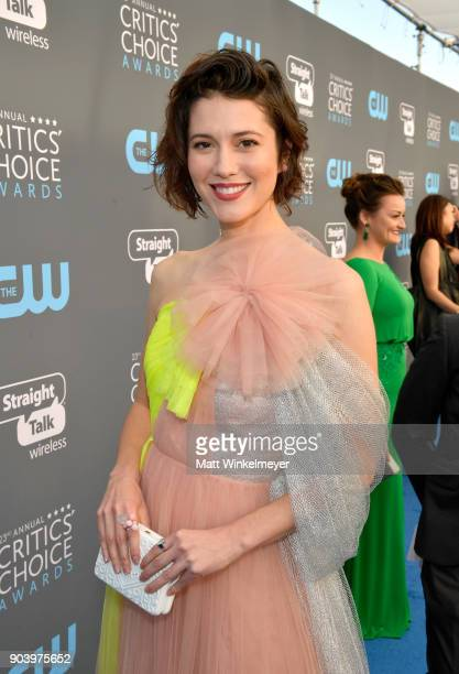Actor Mary Elizabeth Winstead attends The 23rd Annual Critics' Choice Awards at Barker Hangar on January 11 2018 in Santa Monica California