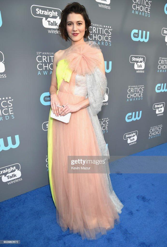 Actor Mary Elizabeth Winstead attends The 23rd Annual Critics' Choice Awards at Barker Hangar on January 11, 2018 in Santa Monica, California.