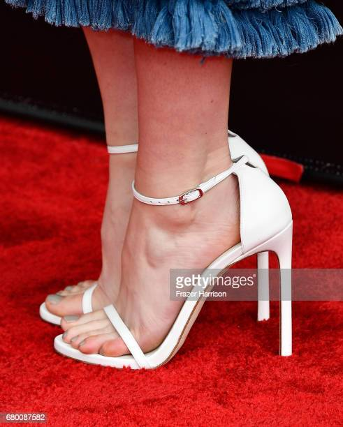 Actor Mary Elizabeth Winstead shoe detail attends the 2017 MTV Movie And TV Awards at The Shrine Auditorium on May 7 2017 in Los Angeles California
