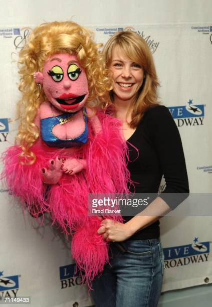 Actor Mary Faber and Lucy T Slut of 'Avenue Q' attend the Broadway's Stars In The Alley Celebrates the 20052006 Theatre Season in Shubert Alley on...