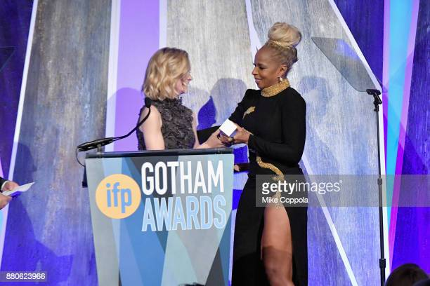 Actor Mary J Blige accepts her award onstage during IFP's 27th Annual Gotham Independent Film Awards on November 27 2017 in New York City