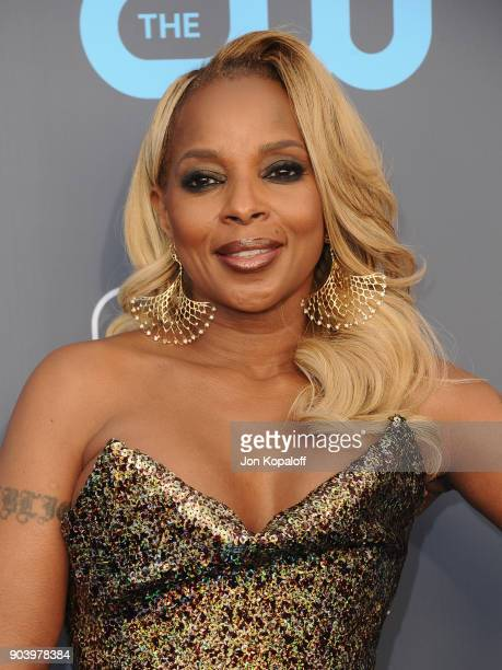 Actor Mary J Blige attends The 23rd Annual Critics' Choice Awards at Barker Hangar on January 11 2018 in Santa Monica California