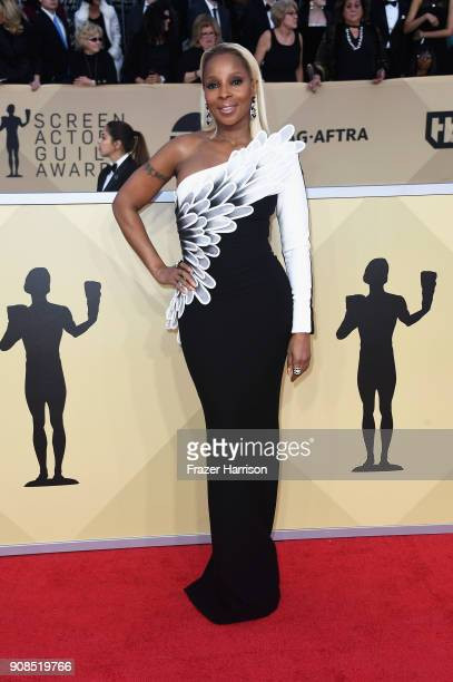 Actor Mary J Blige attends the 24th Annual Screen Actors Guild Awards at The Shrine Auditorium on January 21 2018 in Los Angeles California