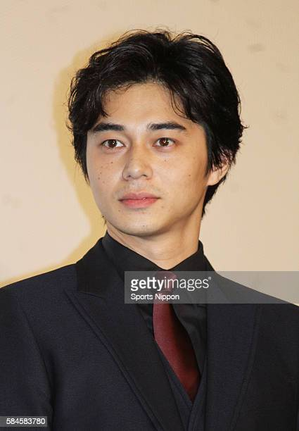 Actor Masahiro Higashide attends opening day greeting of the 'Gonin Saga' on September 26 2015 in Tokyo Japan