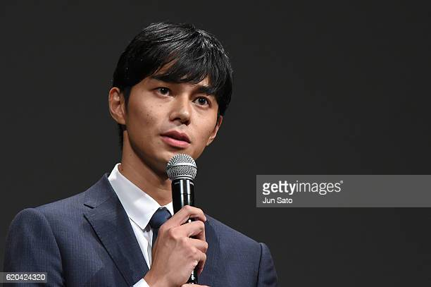 Actor Masahiro Higashide attends 'Satoshi A Move for Tomorrow' Stage Greeting at Ex Theater Roppongi on November 2 2016 in Tokyo Japan