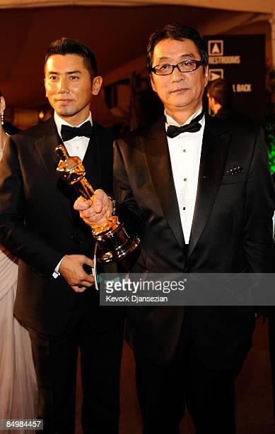 Actor Masahiro Motoki and director Yojiro Takita attend the 81st Annual Academy Awards Governor's Ball held at Kodak Theatre on February 22 2009 in...