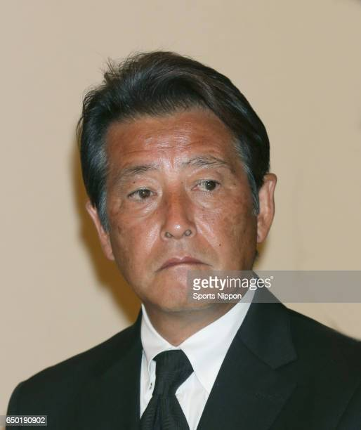 Actor Masaki Kanda attends 29th death anniversary ceremony of actor Yujiro Ishihara on July 27 2015 in Tokyo Japan