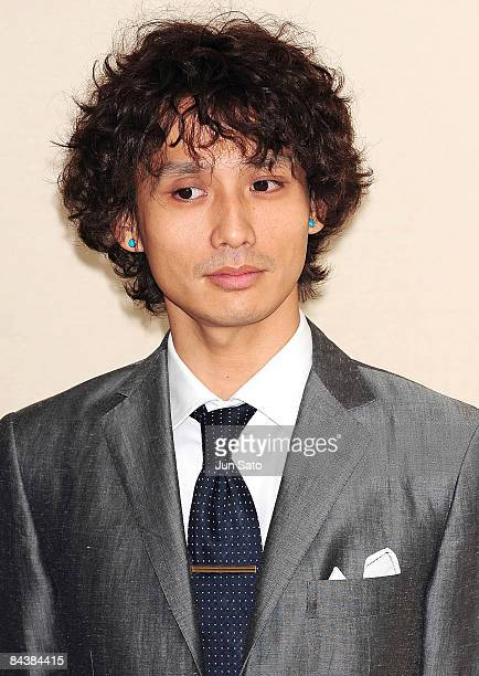 Actor Masanobu Ando attends the Forever Enthralled press conference at the Peninsula Tokyo on January 21 2008 in Tokyo Japan