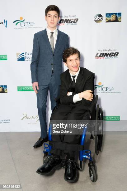 Actor Mason Cook and Honoree Micah Fowler star of ABC's Speechless attend the United Cerebral Palsy Of Los Angeles' Art Of Care Gala Arrivals at...