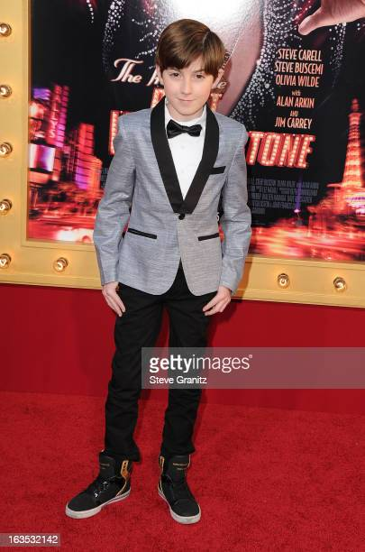 Actor Mason Cook attends The Incredible Burt Wonderstone Los Angeles Premiere at TCL Chinese Theatre on March 11 2013 in Hollywood California