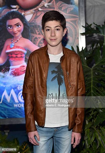 Actor Mason Cook attends The World Premiere of Disney's MOANA at the El Capitan Theatre on Monday November 14 2016 in Hollywood CA