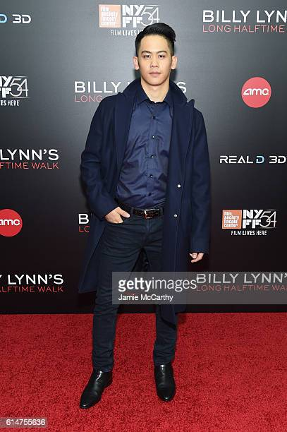Actor Mason Lee attends Billy Lynn's Long Halftime Walk during 54th New York Film Festival at AMC Lincoln Square Theater on October 14 2016 in New...