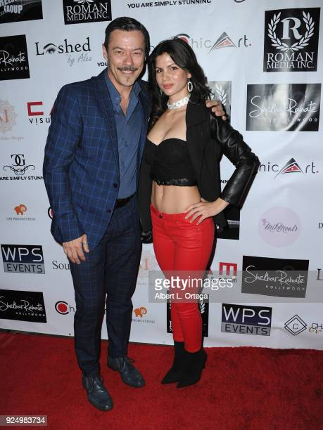 Actor Massi Furlan and actress Erica Manni arrive for the 4th Annual Roman Media PreOscars Hollywood Event Championing Women And Diversity In Film...