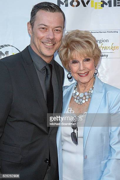 """Actor Massi Furlan and Producer/Actress Karen Sharp-Kramer attends """"The Man Who Saved The World"""" premiere during the Atomic Age Cinema Fest at..."""