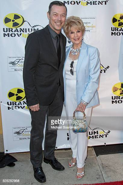 Actor Massi Furlan and Producer/Actress Karen SharpKramer attends The Man Who Saved The World premiere during the Atomic Age Cinema Fest at Raleigh...