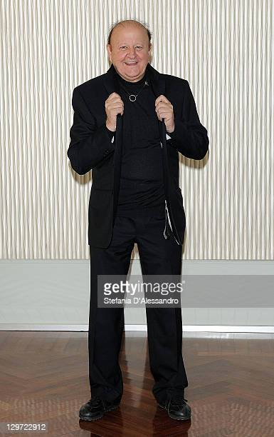 Actor Massimo Boldi attends Matrimonio A Parigi Photocall at Terrazza Martini on October 20 2011 in Milan Italy