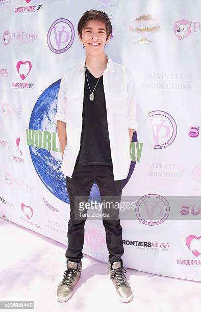Actor Mateo Simon attends World Dog Day Celebration at The City of West Hollywood Park on May 22 2016 in West Hollywood California
