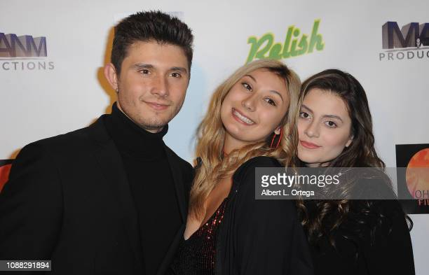 Actor Mateus Ward actress Angela Ryan with sister arrive for the Screening Of Relish held at Pacific Theatres at The Grove on January 24 2019 in Los...