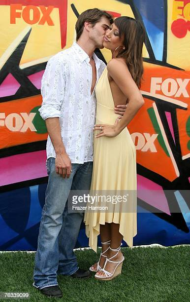 Actor Mathew Lawrence and TV personality Cheryl Burke arrive at the 2007 Teen Choice Awards held at The Gibson Amphitheatre on August 26 2007 in...