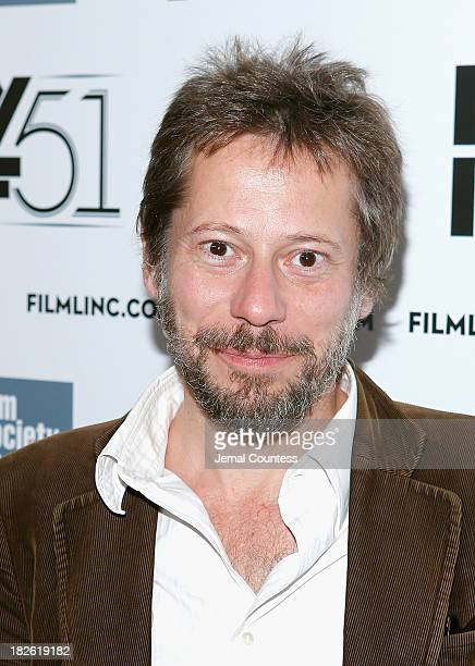 Actor Mathieu Amalric attends the 'Jimmy P Psychotherapy Of A Plains Indian' premiere during the 51st New York Film Festival at Alice Tully Hall at...