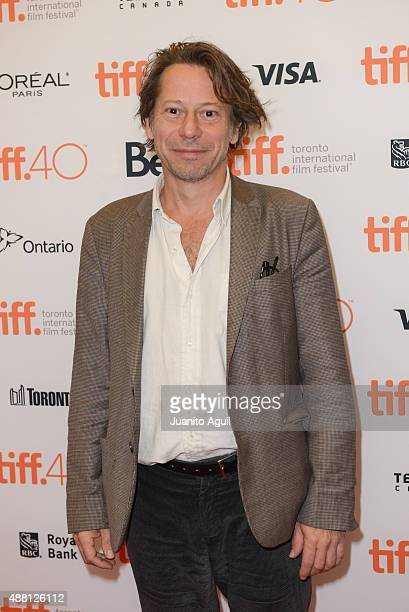 Actor Mathieu Amalric attends the premiere of 'Families' at Princess of Wales Theatre during the 2015 Toronto International Film Festival on...