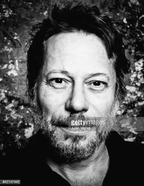 Actor Mathieu Amalric is photographed for L'Express on August 21 2017 in Paris France