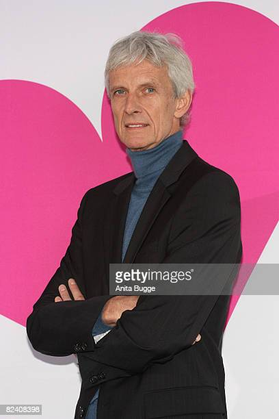 Actor Mathieu Carriere attends a photocall to the new German television SAT1 telenovela 'Anna und die Liebe' on August 18 2008 in Berlin Germany