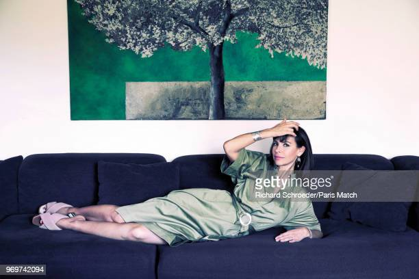 Actor Mathilda May is photographed for Paris Match on April 27 2018 in Paris France