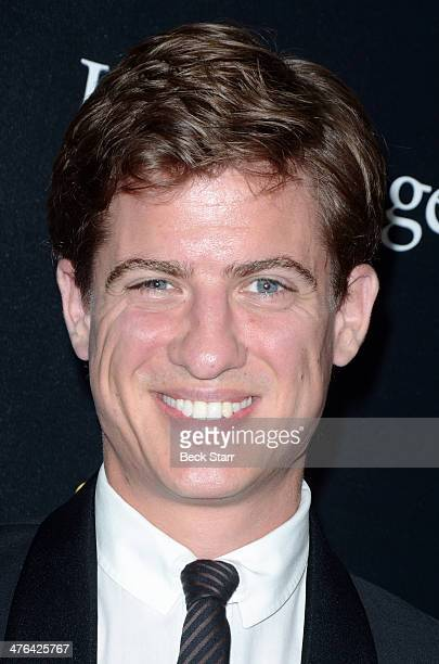 Actor Matt Barber arrives at The Academy Awards viewing party with Champagne Thienot at L'Ermitage Beverly Hills Hotel on March 2 2014 in Beverly...