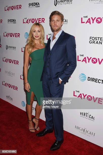 Actor Matt Barr and Kelly Turner arrive at the Premiere of DIRECTV And Vertical Entertainment's 'The Layover' at ArcLight Hollywood on August 23 2017...