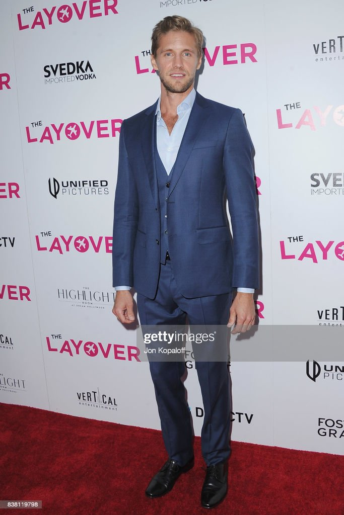 Actor Matt Barr arrives at Los Angeles Premiere 'The Layover' at ArcLight Hollywood on August 23, 2017 in Hollywood, California.