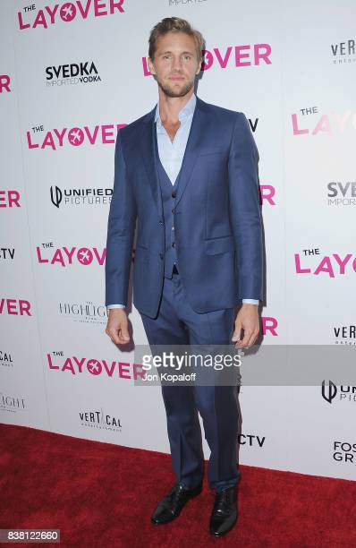 Actor Matt Barr arrives at Los Angeles Premiere The Layover at ArcLight Hollywood on August 23 2017 in Hollywood California