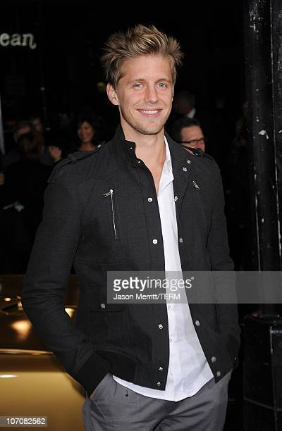 Actor Matt Barr arrives at the Faster Los Angeles Premiere at Grauman's Chinese Theatre on November 22 2010 in Hollywood California