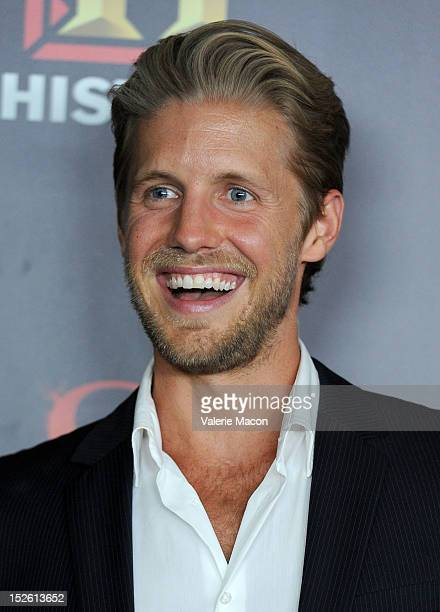 Actor Matt Barr arrives at the History Channel's PreEmmy Party at Soho House on September 22 2012 in West Hollywood California