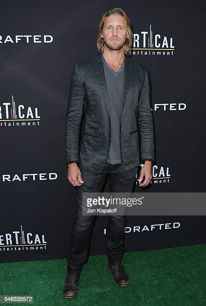 Actor Matt Barr arrives at the Los Angeles Premiere 'Undrafted' at ArcLight Hollywood on July 11 2016 in Hollywood California