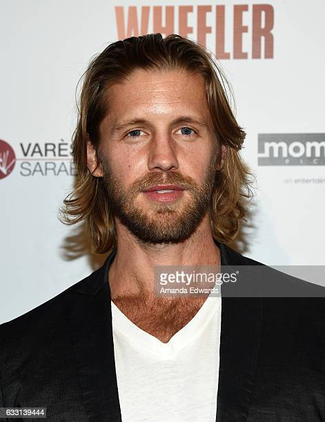 Actor Matt Barr arrives at the premiere of Momentum Pictures' Wheeler at the Vista Theatre on January 30 2017 in Los Angeles California