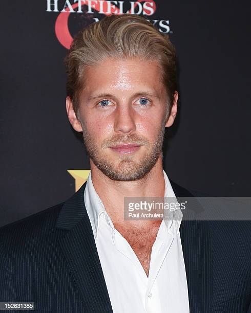 Actor Matt Barr attends the History Channel PreEmmy event at Soho House on September 22 2012 in West Hollywood California