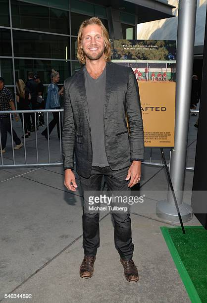 Actor Matt Barr attends the premiere of Vertical Entertainment's Undrafted at ArcLight Hollywood on July 11 2016 in Hollywood California