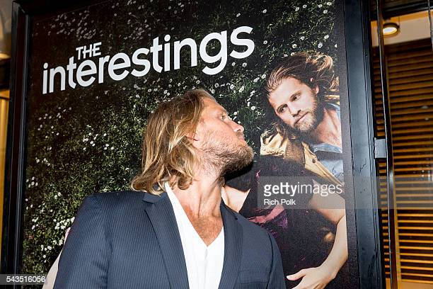 Actor Matt Barr jokes at Sony Pictures Television Social Soiree Featuring Amazon Pilots The Last Tycoon And The Interestings at Sony Pictures Studios...