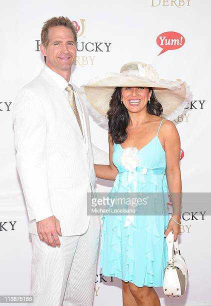Actor Matt Battaglia and wife is Tina Frazier Battaglia attend the 137th Kentucky Derby at Churchill Downs on May 7 2011 in Louisville Kentucky
